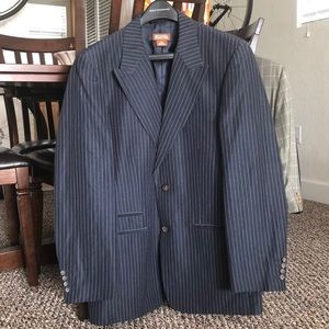 Blue pin stripe suit jacket
